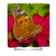 Butterfly-5416-fractal Shower Curtain