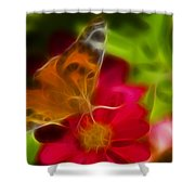 Butterfly-5430-fractal Shower Curtain