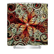 Butterfly And Bubbles Shower Curtain by Anastasiya Malakhova
