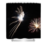 Butterfly And Flower Fireworks Shower Curtain