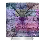 Butterfly Art - Ab25a Shower Curtain