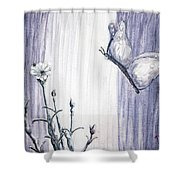 Butterfly At The Veil Shower Curtain