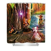 Butterfly Ball Party Shower Curtain