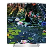 Butterfly Ball Pond Shower Curtain