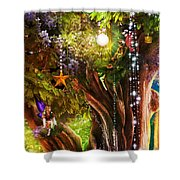 Butterfly Ball Tree Shower Curtain by Aimee Stewart