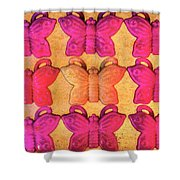 Butterfly Beads Shower Curtain