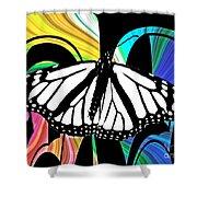 Butterfly Abstract Wall Art Decor Shower Curtain