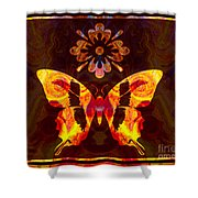 Butterfly By Design Abstract Symbols Artwork Shower Curtain