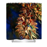 Butterfly Cluster Fractal Shower Curtain