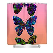 Butterfly Collage IIII Shower Curtain