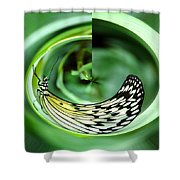 Butterfly Funnel Shower Curtain