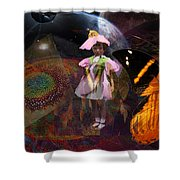 Butterfly Futures Shower Curtain