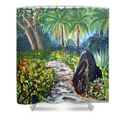 Butterfly Garden At Gumbo Limbo Shower Curtain