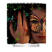 Butterfly Girl Shower Curtain