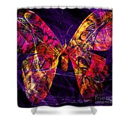 Butterfly In Abstract Dsc2977 Square Shower Curtain