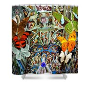 Butterfly In Cappella Sistina Sistinechapel Shower Curtain
