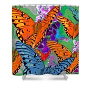 Butterfly Joy Shower Curtain