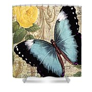 Butterfly Kisses-a Shower Curtain