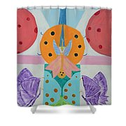Butterfly Kisses And Ladybug Hugs Shower Curtain
