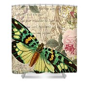 Butterfly Kisses-b Shower Curtain