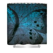 Butterfly Midnight Symphony Shower Curtain
