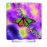 Butterfly - Monarch - Photopower 1551 Shower Curtain