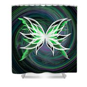 butterfly Motion Shower Curtain