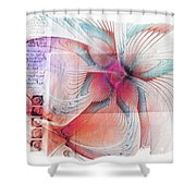 Butterfly Note Shower Curtain