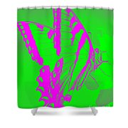 Butterfly Ode To Andy Warhol Shower Curtain