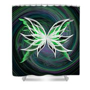 Butterfly Oil Painting Shower Curtain