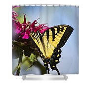 Butterfly Out Of The Blue - Blue Butterfly Art Shower Curtain
