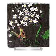 Butterfly Sprig Shower Curtain