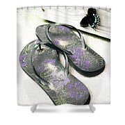 Butterfly Summer Shower Curtain
