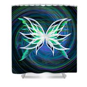 Butterfly Swirl Shower Curtain