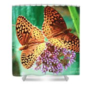 Butterfly Twins Shower Curtain