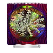 Butterfly Water Globe   Shower Curtain