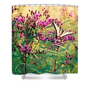 Butterfly Wildflower Shower Curtain
