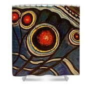 Butterfly Wing Close Up Shower Curtain