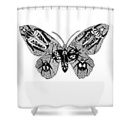 Butterfly With Design Shower Curtain
