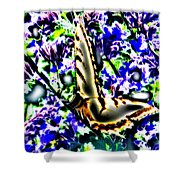 Butterfly With Purple Flowers 4 Shower Curtain