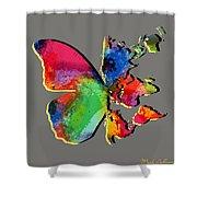 Butterfly World Map 2 Shower Curtain