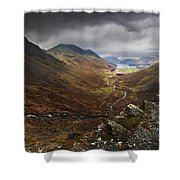 Buttermere Valley Autumn View Shower Curtain