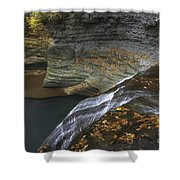 Buttermilk Falls In Autumn I Shower Curtain