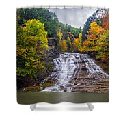 Buttermilk Falls Shower Curtain by Mark Papke