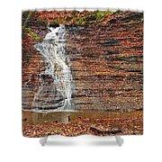 Buttermilk Waterfall Shower Curtain by Marcia Colelli