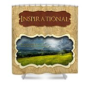 Button - Inspirational Shower Curtain