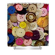 Buttons 667 Shower Curtain
