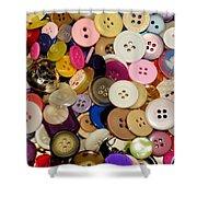 Buttons 671 Shower Curtain