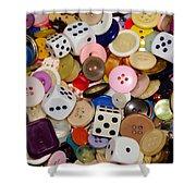 Buttons 674 Shower Curtain