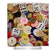 Buttons 676 Shower Curtain